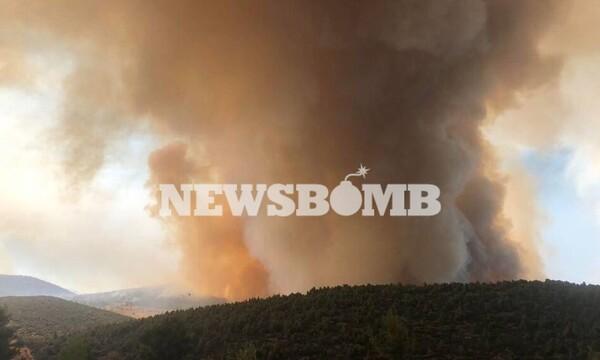 Φωτιά - Κεχριές: Πύρινη «κόλαση» - Εκκενώθηκε κι άλλος οικισμός