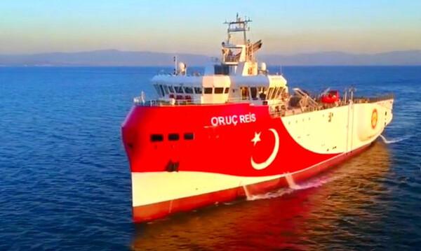 Oruc Reis: Οι Τούρκοι ανακοίνωσαν ότι άρχισε σεισμικές έρευνες