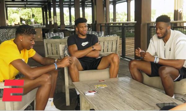 Οι Αντετοκούνμπο παίζουν… UNO κι ονειρεύονται να παίξουν μαζί στα NBA Finals (vid)