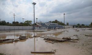 Πλημμύρες Εύβοια – Έγινε λίμνη το γήπεδο του Λήλαντα (video+photos)