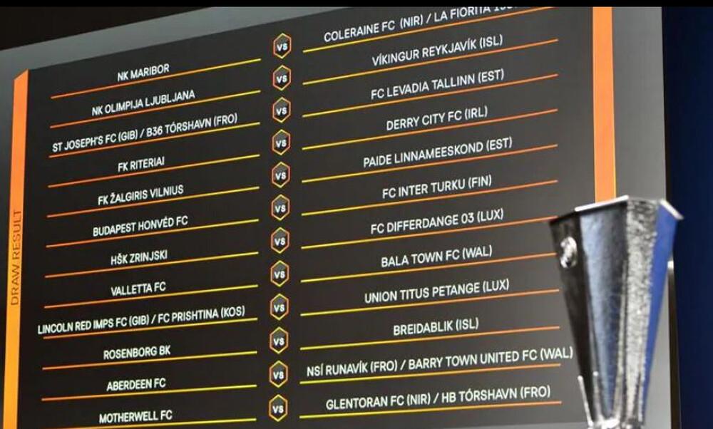 Europa League: Η κλήρωση του α΄ προκριματικού γύρου