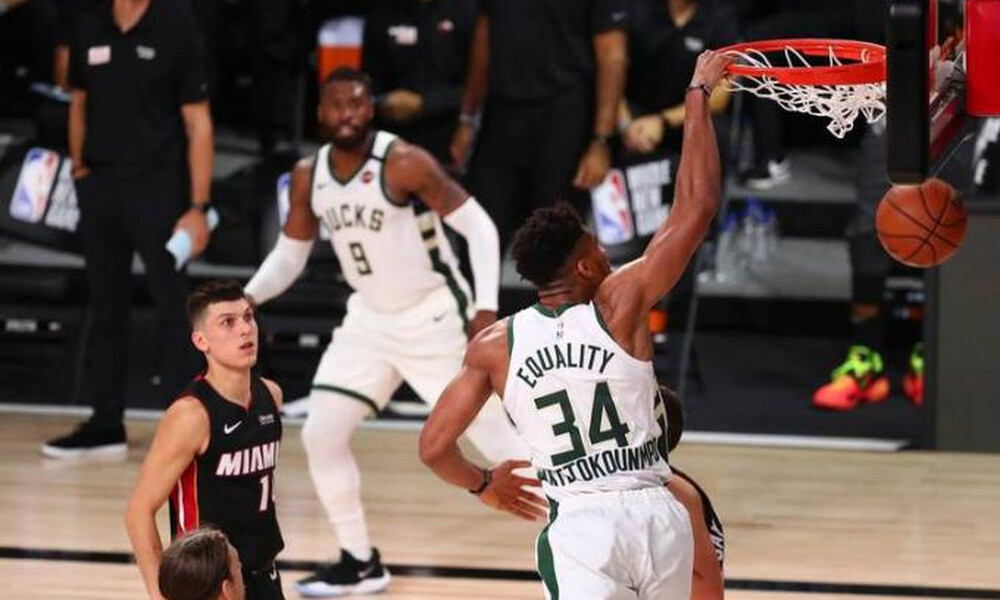 NBA: Πάλεψε μόνος του ο Γιάννης, 3-0 οι Χιτ (video)