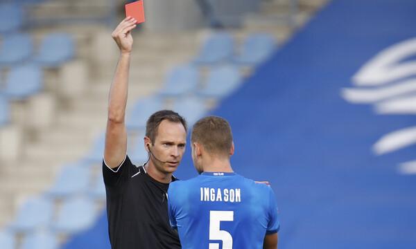 UEFA Nations League: Η αποβολή του Ίνγκασον που «σκότωσε» την Ισλανδία (video)