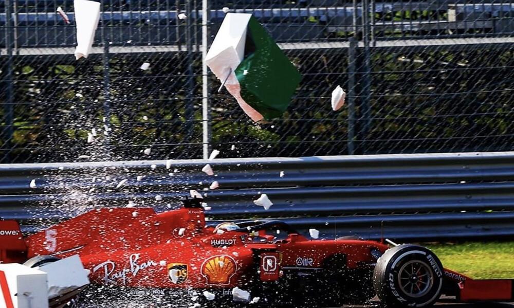 «Πάγωσαν» στην Μόντσα με Λεκλέρκ: Τρομακτικό ατύχημα στην F1 (video+photos)