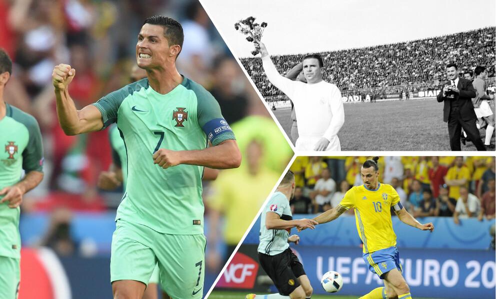 Από τον Πούσκας ως τον Κριστιάνο: Οι ευρωπαίοι με τα περισσότερα γκολ με το εθνόσημο (photos+vid)