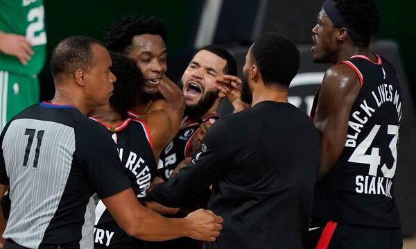 NBA: Μεγάλη ένταση ανάμεσα σε Ράπτορς και Σέλτικς (video)