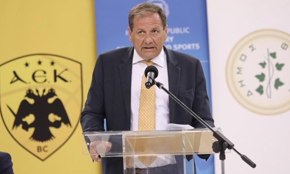 Αγγελόπουλος: «Θέλουμε κόσμο στο γήπεδο, καμπίνες απολύμανσης στο Final 8»