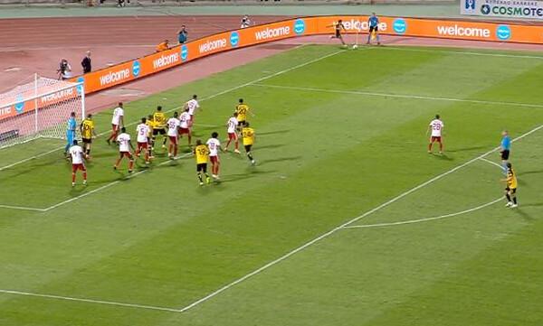 ΑΕΚ-Ολυμπιακός: Ο Βέρντε προσπάθησε να σκοράρει με απευθείας κόρνερ (video)