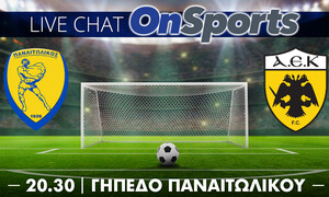 LIVE Chat: Παναιτωλικός-ΑΕΚ 0-0 (Ημίχρονο)