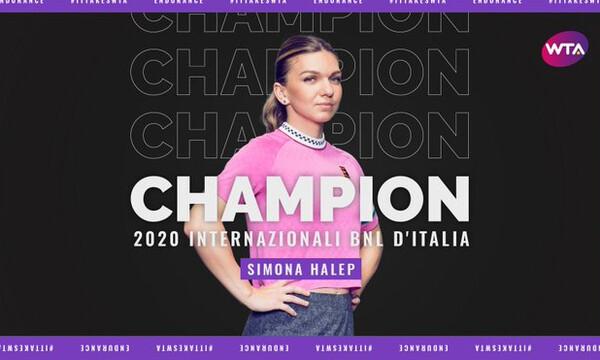 Italian Open: Νικήτρια στην «αιώνια πόλη» η Σιμόνα Χάλεπ, μετά την απόσυρση της Καρολίνα Πλίσκοβα