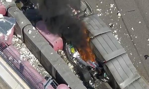 Τρομακτικό ατύχημα στην Formula 2: Έπιασε φωτιά ένα μονοθέσιο (video+photos)