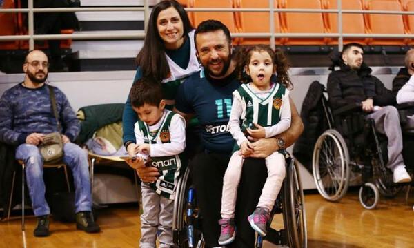 Παναθηναϊκός ΑμεΑ: Στα… πράσινα ο Παναγιώτης Χριστόφορος και στο μπάσκετ με αμαξίδιο! (photo)