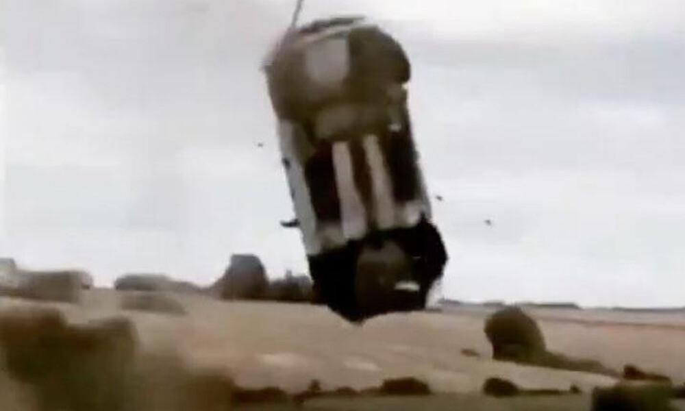 Τρομακτικό ατύχημα σε ράλι στη Γαλλία! Αγωνιστικό αυτοκίνητο… απογειώθηκε (video)