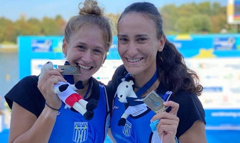 Κωπηλασία: Χάλκινο μετάλλιο από Μπούρμπου και Κυρίδου στο Ευρωπαϊκό Πρωτάθλημα (video+photos)