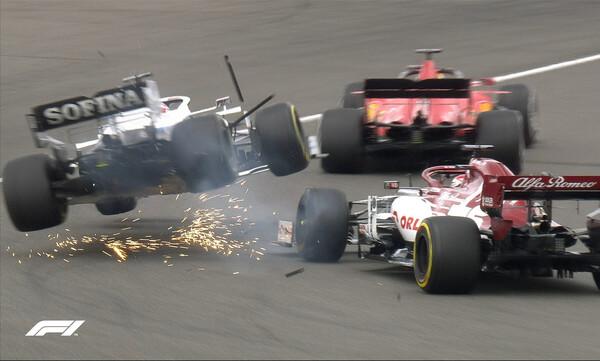 Formula 1: Τρομακτικό ατύχημα, ο Ράικονεν «απογείωσε» τον Ράσελ (video+photos)