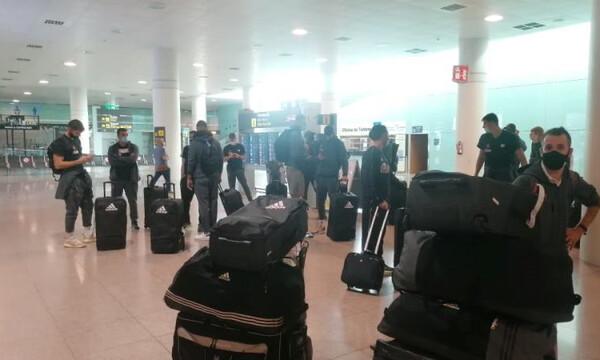 Παναθηναϊκός ΟΠΑΠ: Αεροδρόμιο... φάντασμα στη Βαρκελώνη (photos+videos)