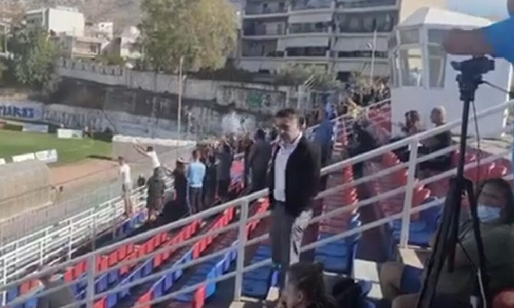 Το πρώτο ελληνικό ματς με κόσμο στην εποχή του κορονοϊού (photos)