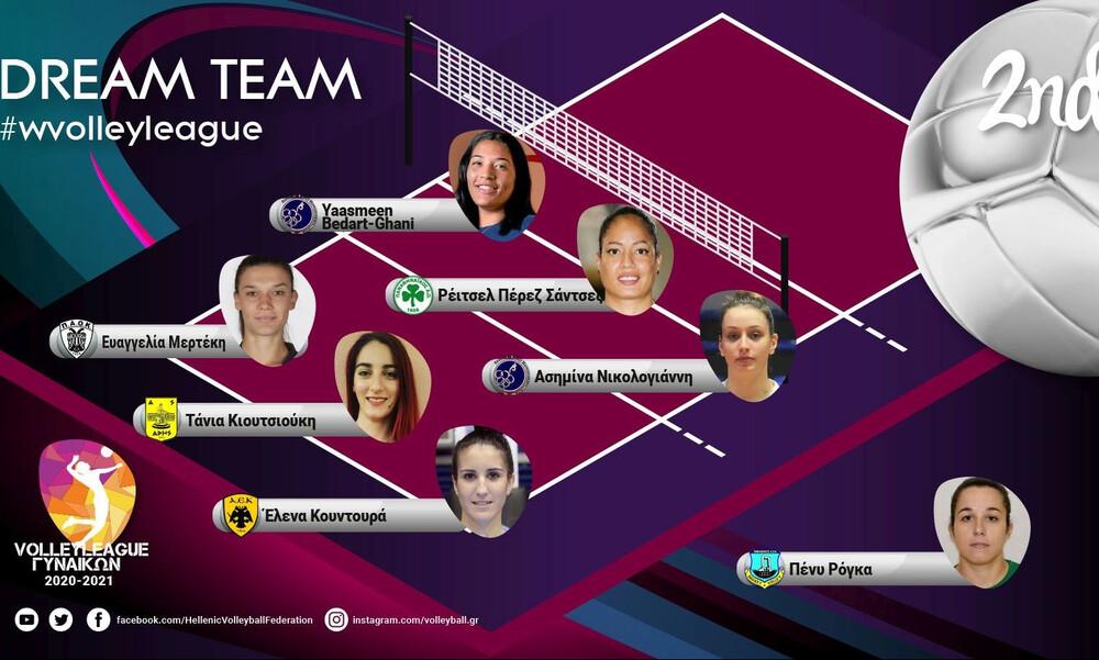 Volley League Γυναικών: Με εκπροσώπους έξι διαφορετικών ομάδων η κορυφαία 7άδα!
