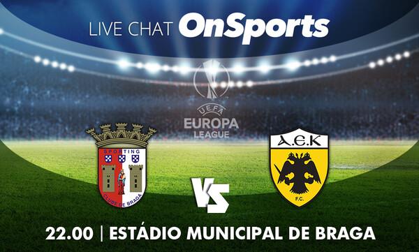 Live Chat Μπράγκα-ΑΕΚ 3-0 (Τελικό)