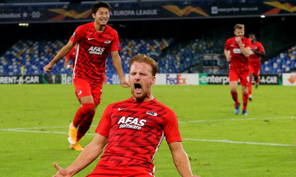 Europa League - 6ος όμιλος: «Σφαλιάρα» της AZ στη Νάπολι, σώθηκε η Σοσιεδάδ (video)