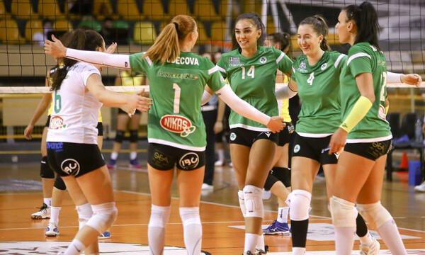 Volley League Γυναικών: «Διπλό» στη Λαμία για τα… φίνα κορίτσια του Παναθηναϊκού