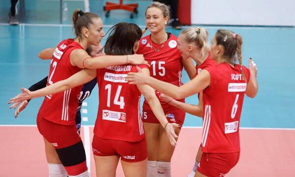 Volley League Γυναικών: «Ίδρωσε» ο Ολυμπιακός αλλά πήρε το «δίποντο» με 3-2 σετ επί του ΠΑΟΚ (photo)