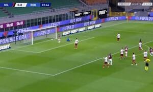 Μίλαν-Ρόμα: Τρελό γκολ από τον Ιμπραΐμοβιτς (video)
