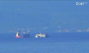 Σύγκρουση πλοίων στον Πειραιά: Δείτε τις πρώτες εικόνες από το ατύχημα