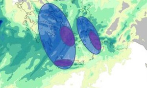 Κακοκαιρία Κίρκη: Πού θα χτυπήσει τις επόμενες ώρες - Καταιγίδες, χαλάζι και θυελλώδεις άνεμοι