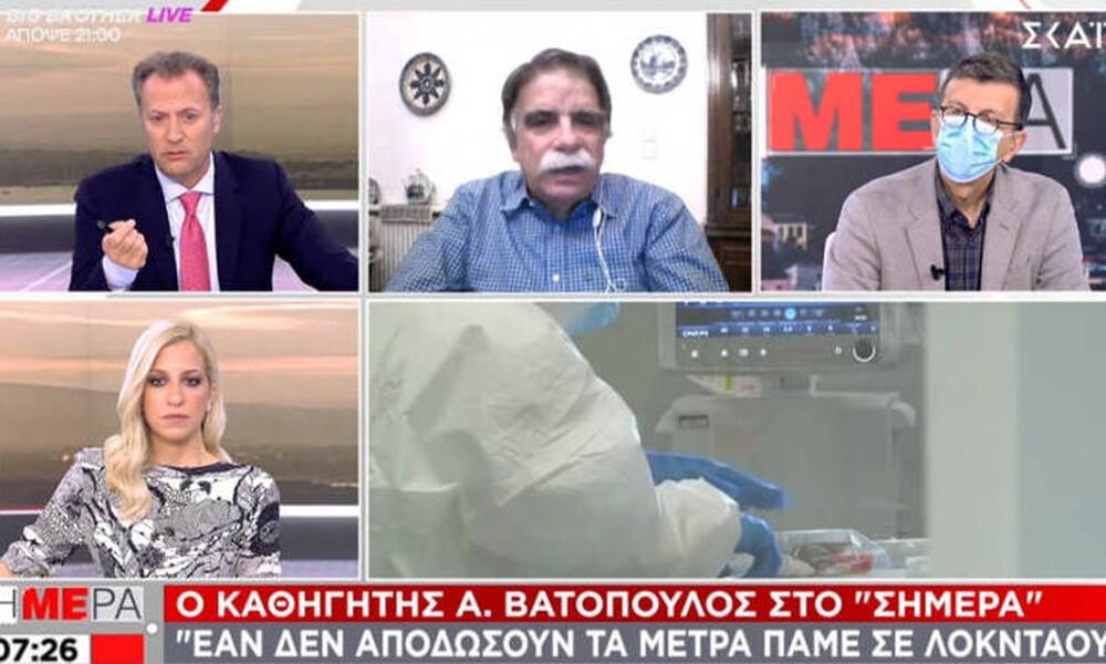 Κορονοϊός: «Βόμβα» Βατόπουλου - «Θα έχουμε 2.000 κρούσματα το Σαββατοκύριακο»