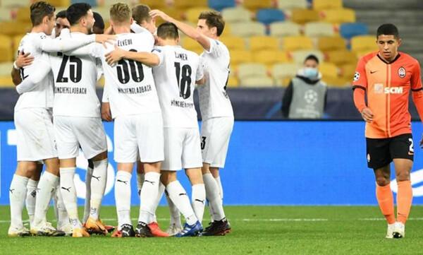 Champions League: Τρομακτική η Γκλάντμπαχ, διέλυσε την Σαχτάρ στο Κιέβο (video)