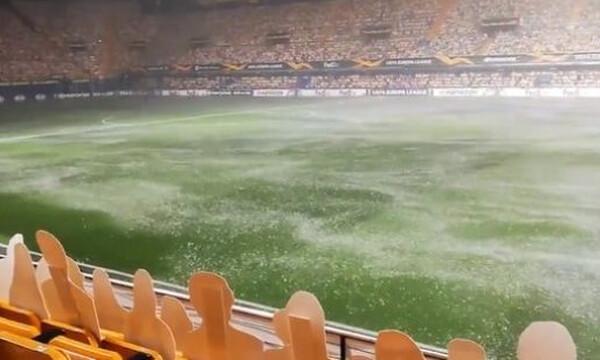 Europa League: «Πισίνα» το γήπεδο της Βιγιαρεάλ πριν τη «μάχη» με τη Μακάμπι του Δώνη (video+photos)