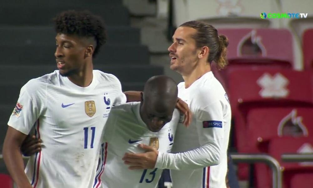 Nations League: Ο Καντέ άνοιξε το σκορ για τη Γαλλία στη Λισσαβόνα (video)