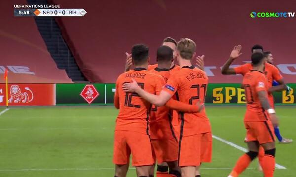 Nations League: Απλά και γρήγορα 2-0, η Ολλανδία καθαρίζει τη Βοσνία (videos)