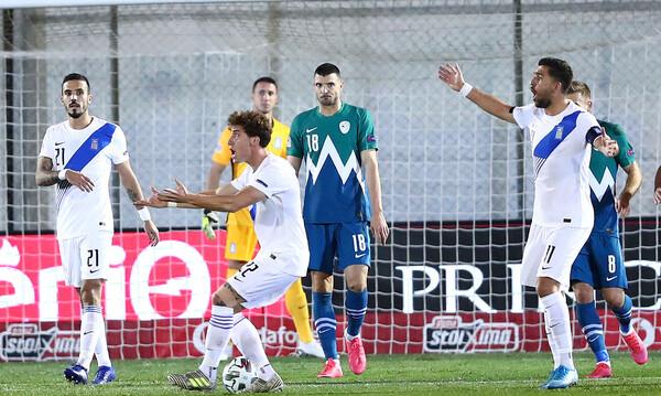 Ελλάδα-Σλοβενία 0-0: Άργησε να ρισκάρει, ήταν άστοχη και κόλλησε στον Όμπλακ (videos+photos)