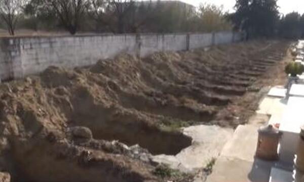 Κορονοϊός Σέρρες: Προετοιμάζονται για τα χειρότερα - Έσκαψαν 35 τάφους