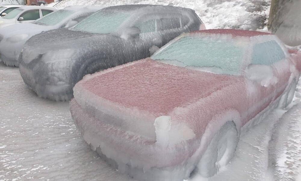 Απίστευτες εικόνες στη Ρωσία: Έπεσε «παγωμένη βροχή» (pics+vid)