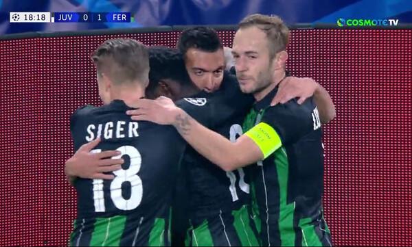Champions League: Σόκαρε τη μη... ιταλική Γιουβέντους η Φερεντσβάρος, απάντησε ο Ρονάλντο (video)
