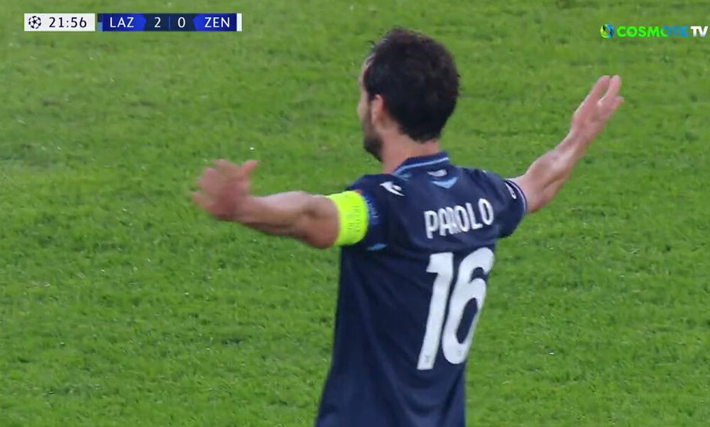 Champions League: Ο Παρόλο με ωραίο σουτ το 2-0 για τη Λάτσιο κόντρα στη Ζενίτ (video)