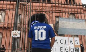 Ντιέγκο Μαραντόνα: Η πρώτη εσωτερική φωτογραφία από το λαϊκό προσκύνημα