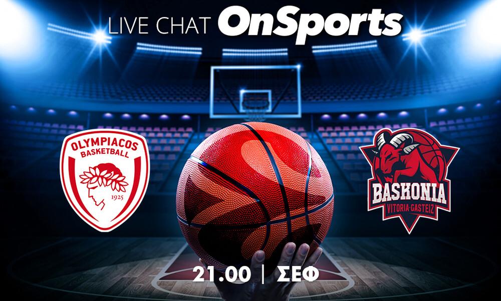 Live Chat Ολυμπιακός - Μπασκόνια 76-90 (Τελικό)
