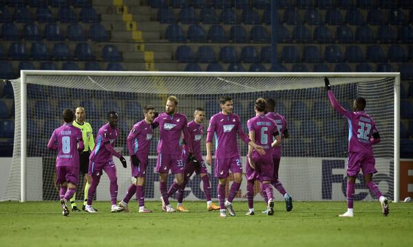 Europa League - 12ος όμιλος: Προκρίθηκε η Χόφενχαϊμ, μια ανάσα μακριά ο Ερυθρός Αστέρας
