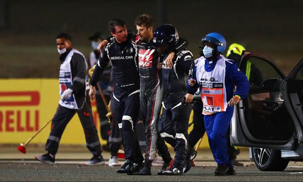 Συγκλονιστικές εικόνες στην F1: Η «μάχη» του Γκροζιάν με τις φλόγες για να σωθεί (videos+photos)