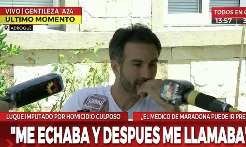 Ξέσπασε ο γιατρός του Ντιέγκο Μαραντόνα: «Έκανα ότι μπορούσα» (video+photos)