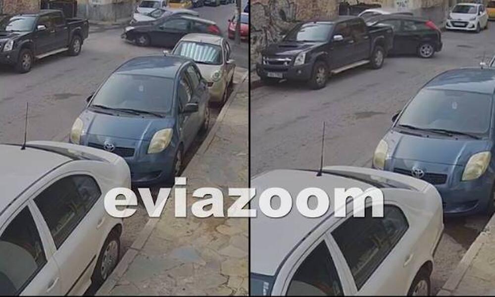 Χαλκίδα: Η στιγμή που οδηγός περνάει «STOP» και συγκρούεται σφοδρά με διερχόμενο όχημα (vid)