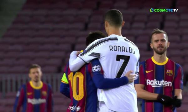 Champions League: Η αγκαλιά Μέσι και Ρονάλντο στο «Καμπ Νόου» (video)