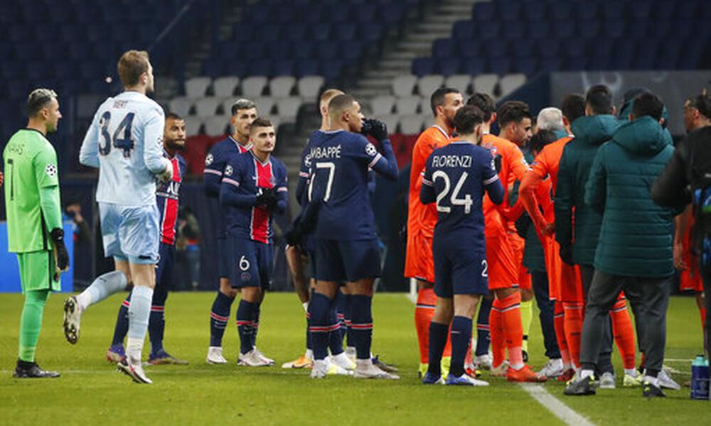Champions League: Διεκόπη οριστικά το Παρί-Μπασακσεχίρ - Έξαλλοι οι Τούρκοι, παρέμβαση Ερντογάν