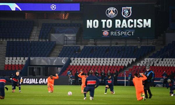 Παρί-Μπασακσεχίρ: Γονάτισαν οι παίκτες στον ύμνο του Champions League (video)