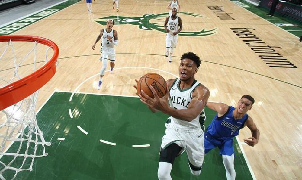 NBA: Επιστροφή με double double ο Αντετοκούνμπο (photos+videos)