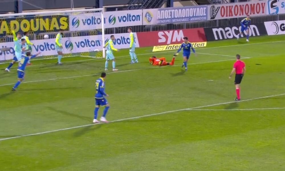Αστέρας Τρίπολης-Ατρόμητος: To «επεισοδιακό» γκολ του Κρέσπι (video)